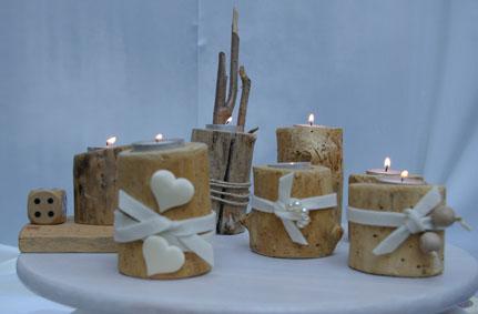 Teelichthalter aus alten Holzresten oder Treibholz