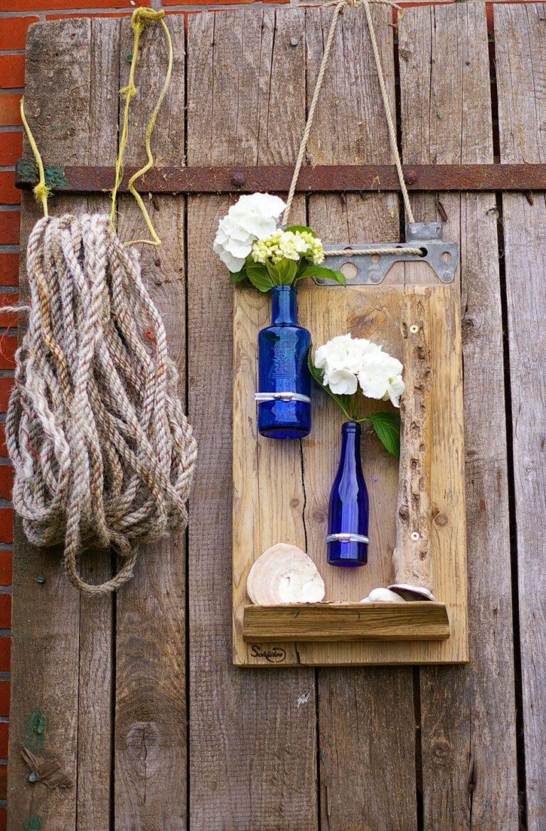 Ein bisschen Farbe in die Wohnung bringen – mit selbstgemachten Vasen