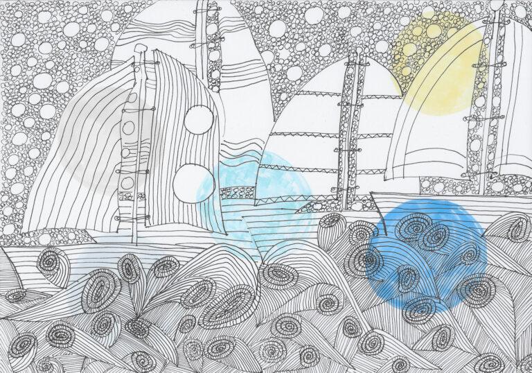 Segelboote auf dem Meer: ein Grund zum Träumen