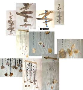 Diy Ideen: Mobiles aus Treibholz, Muscheln und Perlen