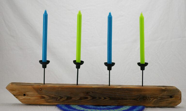 Diy Kerzenständer aus Treibholz und andere Zutaten