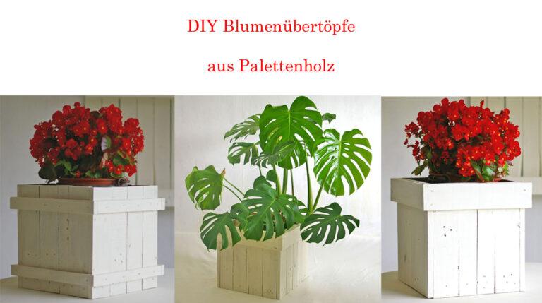 Diy Idee Blumentöpfe aus Palettenholz