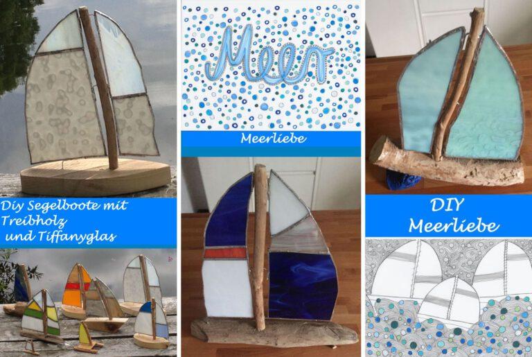 Segelboote aus Treibholz und Tiffanyglas – unsere kleine Leidenschaft