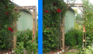 Diy: ein wunderschöner Rosenbogen für den Garten aus Palettenholz