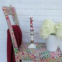 Halbe Stühle als Regal und Decoupage-Technik, tolle Upcyclingidee