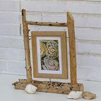 DIY-Idee: Tolle Bilderständer aus Treibholz und fertigen Rahmen