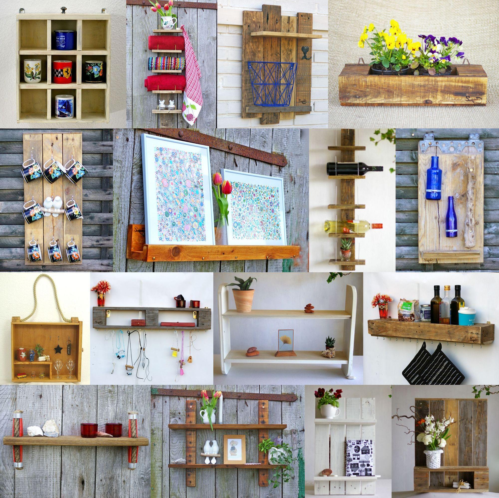 Nachhaltige Ideen für Diy Regale aus Treibholz und Palettenholz