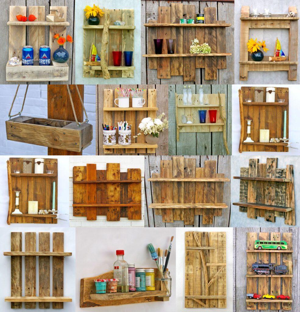 Regale aus dem Holz von Paletten, viele Formen, Ideen und Inspirationen, auf jeden Fall nachhaltig