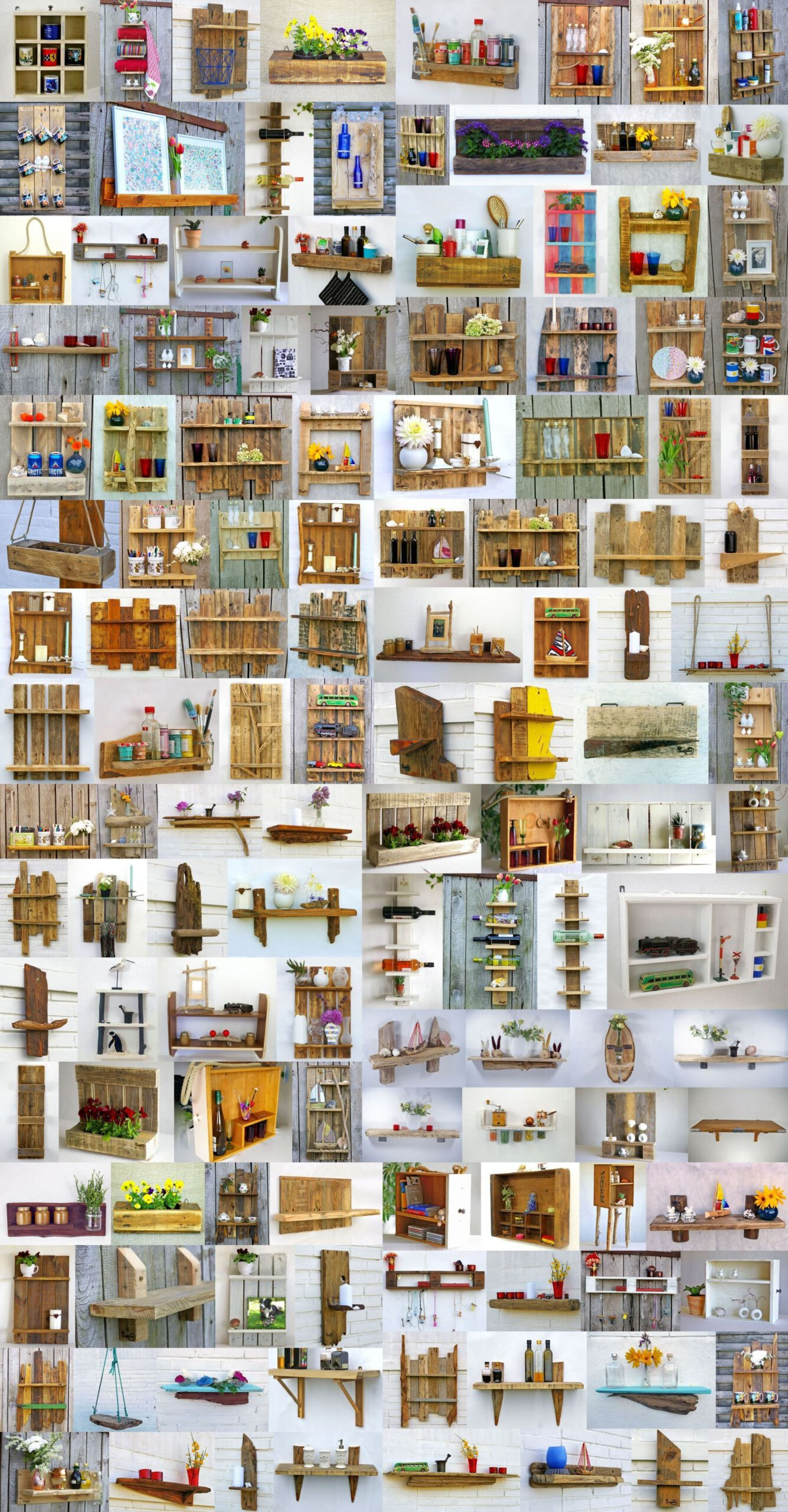 100 Vorschläge für nachhaltige Holzregale zum Selbermachen